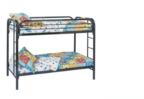 Monarch, Ryan, Twin Over Twin Bunk Bed, Black