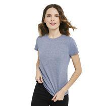 T-shirt chiné à encolure ronde George pour femmes