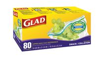Glad® Zipper Snack Bags 80 Count