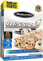 MuscleTech Mission 1 Cookies and Cream Clean Protein Bar