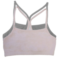 Fruit of the Loom Girls' Y-Back Style Sports Bra - Pack of 2 light pink 36