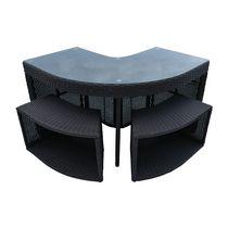 Canadian Spa Co. Corner Bar & 2 Stools - Square Spa Surround Furniture