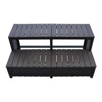 Canadian Spa Co. Wicker Spa Step for 90 inch Spas