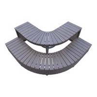 Canadian Spa Co. Corner Steps 2-Tier - Square Spa Surround Furniture
