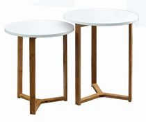 hometrends 2-Piece White Nesting Table Set