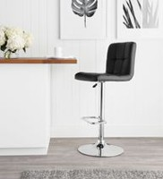 hometrends Quilted Swivel Bar Stool