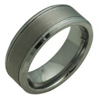 FLAT TUNGSTEN RING 9