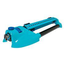 Aqua Joe AJ-OMS20-BRS Indestructible Metal Base Oscillating Sprinkler, Customizable Coverage, 4973 sq ft Max Coverage