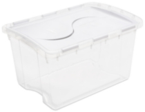 Sterilite 45 Liter Hinged Lid White Storage Box