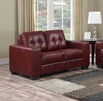Metro 2-Seater Love Seat, Burgundy