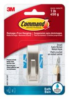 Command™ Modern Reflections Small Hook with Water-Resistant Strips