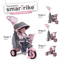 Smart Trike Boys' Swing 4-in-1 Tricycle Pink