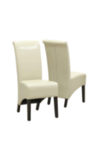 Monarch Specialities Avalon Faux-Leather Beige Parson Chair
