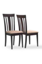 Monarch Specialities Logan Brown Solid Wood  Side Chairs