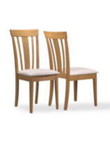 Monarch Specialities Fabric Seat Emma Dining Chairs