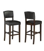 Brassex 29''  Bar Stools, Set of 2, Espresso