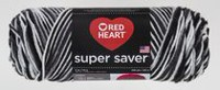 Fil à tricoter Supersaver de Red Heart Zebre