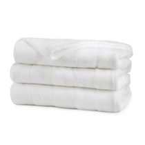 Sunbeam® Microplush Queen Size Heated Blanket White