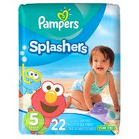 Pampers Splashers Disposable Swim Pants Size 5