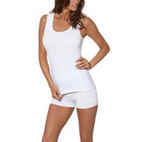 Secret Women's Soft Stretch Cotton Tank Top White L