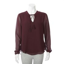 George Women's Tie-front Top L/G