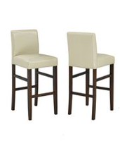 Brassex 29'' Bar Stools, Set of 2, Cream