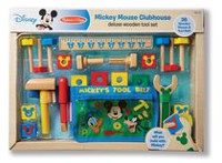 Melissa & Doug Disney Mickey Mouse Deluxe Clubhouse Wooden Tool Set