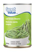 Haricots verts coupés de Great Value