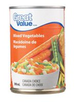 Macédoine de légumes de Great Value