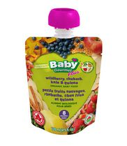 Baby Gourmet Wildberry, Rhubarb, Kale & Quinoa Organic Baby Food