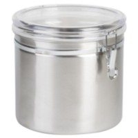 Anchor Hocking Stainless Steel Clamp Canister With Clear Lid