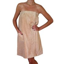 Radiant Sauna Women's Spa & Bath Tan Terry Cloth Towel Wrap