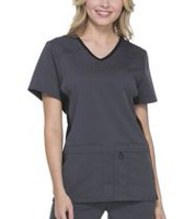 Scrubstar Women's Premium Collection Flexible V-Neck Scrub Top Antique Pewter S