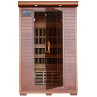 Radiant Saunas 2-Person Cedar Deluxe Infrared Sauna with 6 Carbon Heaters