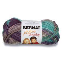 Bernat Softee Chunky Ombres Yarn, 2.8oz(80g), Super Bulky, Acrylic