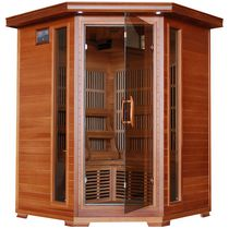 Radiant Saunas 3-Person Cedar Corner Infrared Sauna with 7 Carbon Heaters