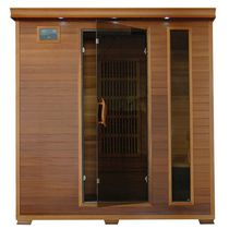 Radiant Saunas 4-Person Cedar Infrared Sauna with 9 Carbon Heaters