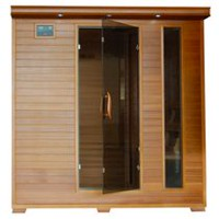 Radiant Saunas 6-Person Cedar Infrared Sauna with 10 Carbon Heaters