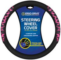 Who-Rae Ergodrive Memory Foam Steering Wheel Cover, Pink Cheetah