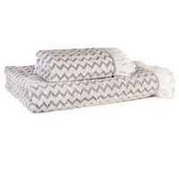 hometrends Fringed Chevron Cotton Bath Towel, Walamrt