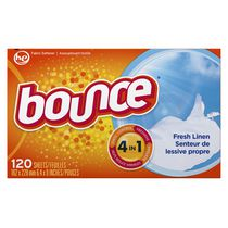 Bounce Fresh Linen Fabric Softener Sheets 120 Count