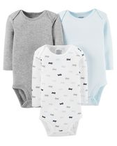Child of Mine made by Carter's Boys' Long Sleeve Basic Bodysuits 0-3