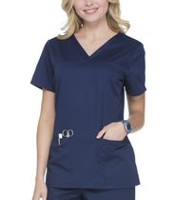 Scrubstar Women's Core Essentials V-Neck Scrub Top Indigo S