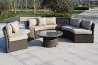 Henryka Aluminium Frame with PVC Wicker 6 Piece Sofa Set