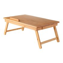 winsome baldwin lap desk with flip top bamboo