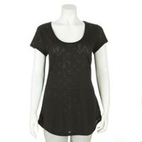 George Women's Burnout Tee Black L