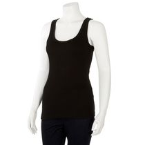 George Women's Racer Back Ribbed Tank Top Black M/M