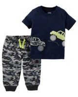 Child of Mine made by Carter's Newborn Boys 2pc clothing set -Trucks 18 months