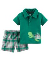 Child of Mine made by Carter's Infant Boys 2pc clothing set Turtle 24M
