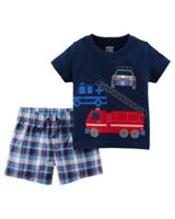 Child of Mine made by Carter's Newborn Boys 2pc clothing set -Firetruck 18 months